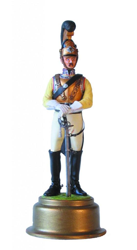 Chakotens Årsfigur 2005, en Hestgarder 1848 i samlet og bemalet stand.