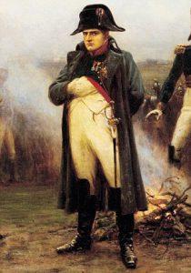Napoleon Bonaparte i sin karakteristiske uniform og positur.